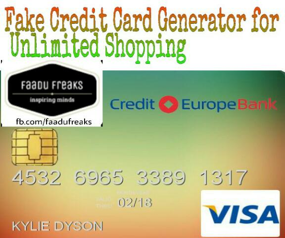 fake card number generator with cvv
