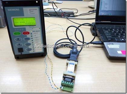 Photo: Protocol Test Reyrolle Argus 7SR to ASE2000 - ModbusRTU Protocol