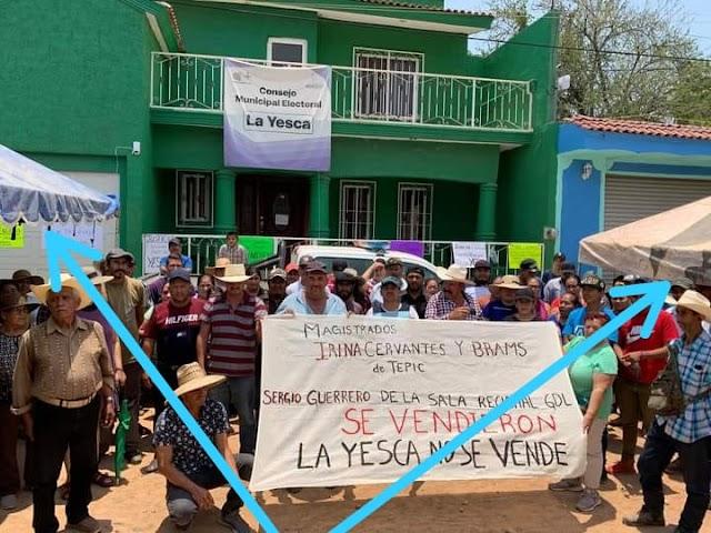 Candidata indígena ilegal y su grupo amenazan con boicotear elección en La Yesca, Nayarit.