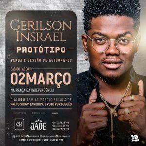 """Gerilson Insrael fala do seu primeiro álbum """"Protótipo"""" a ser lançado a 2 de Março"""