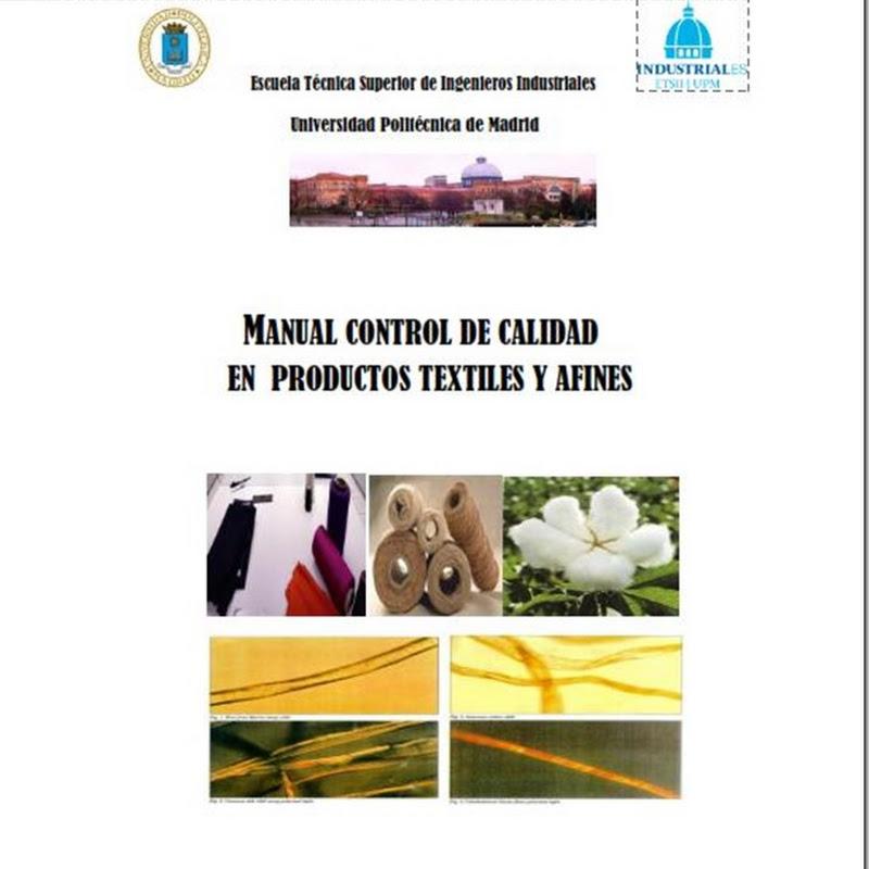 """""""Manual control de calidad en productos textiles y afines"""" (PDF)"""