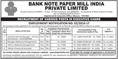 BNPM India Advertisement 2017 www.indgovtjobs.in