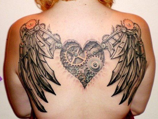 steampunk_coraço_e_asas_de_volta_tatuagem_para_mulheres