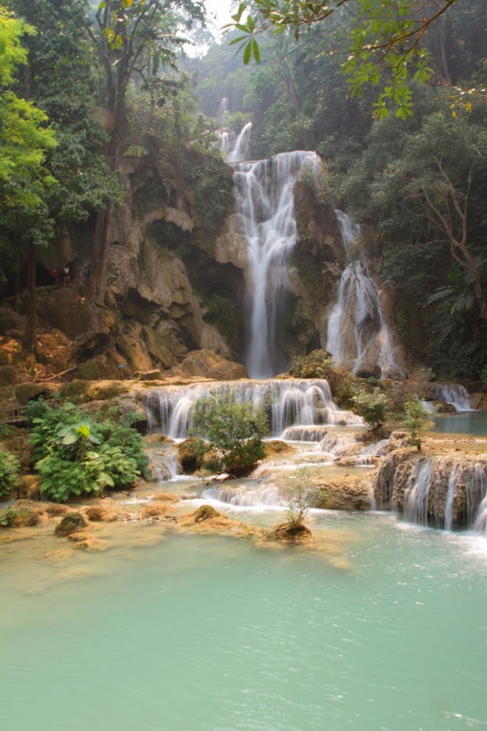 The lovely Kuang Si Waterfall near Luang Prabang, Laos