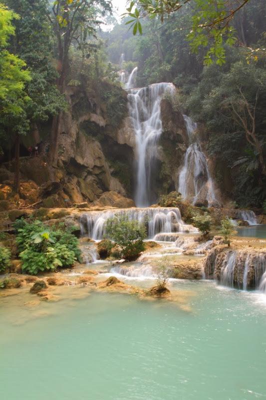 The lovely Kuang Si Waterfall near Luang Prabang, Laos
