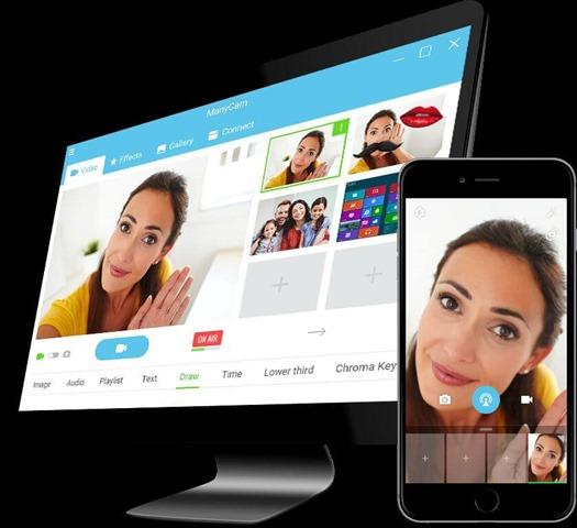 برنامج خدع الويب كام وتركيب الفلاتر والبث المباشر لليوتيوب ManyCam 5.8.0