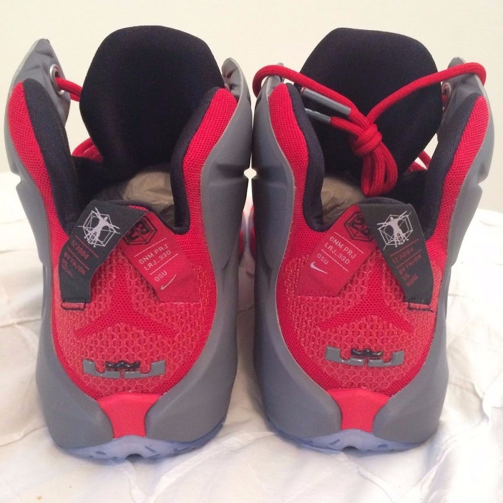 8bd960e2deee ... Closer Look at the Real Nike LeBron 12 Ohio State PEs ...