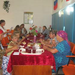 Посиделки для пожилых людей ко Дню успенского (яблочного) спаса «Праздник престольный. В яблочный день встречаем гостей»  (Артёмовский СК)