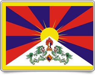 Tibetan framed flag icons with box shadow