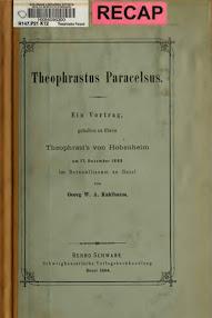 Cover of Georg Wilhelm August Kahlbaum's Book Theophrastus Paracelsus (in German)