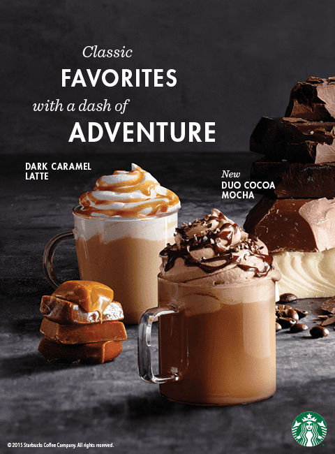 Starbucks Dark Caramel Latte, New Food Items, and New Starbucks Card Available Starting September 15