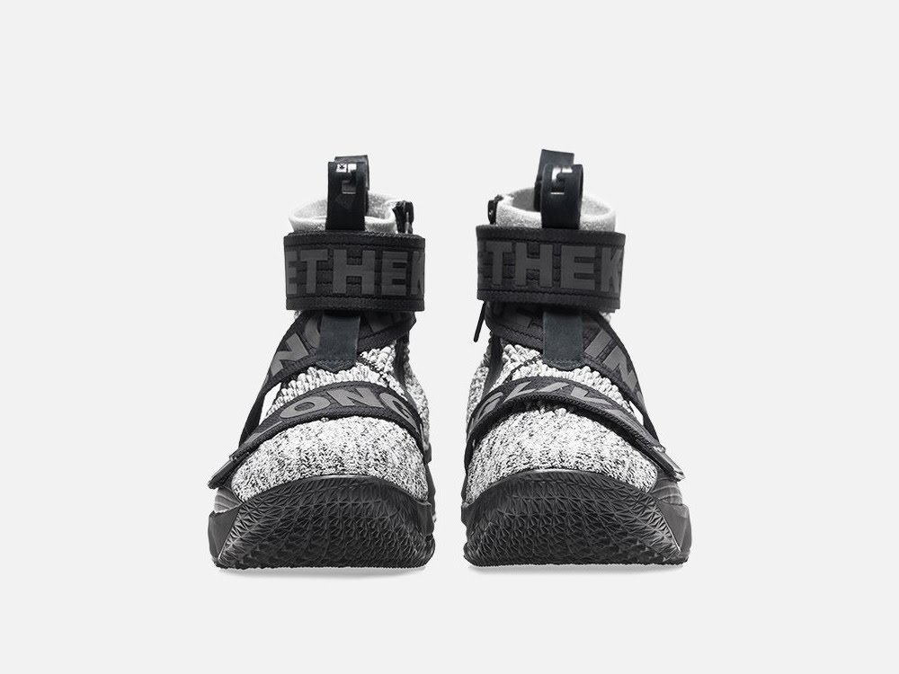 buy popular 5ebf4 2a7be Detailed Look at KITH X Nike LeBron 15 Lifestyle 'Concrete ...