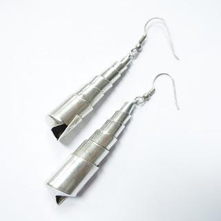 Sterling Silver Modernist Spiral Earrings