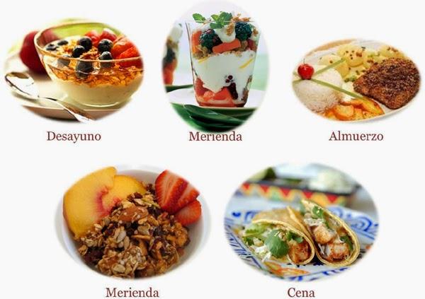 5 comidas al día