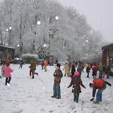 Ecole sous la neige