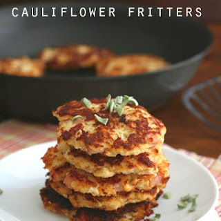 Ham & Cheese Cauliflower Fritters.