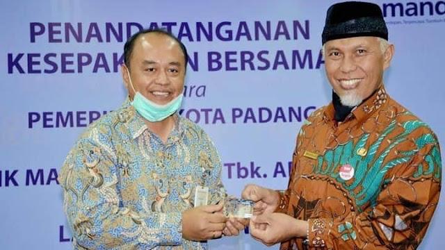Pemko Padang Jalin MoU Dengan Bank Mandiri Tentang Layanan Perbankan.