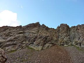 Traversée d'arêtes du Chainon ds Guides: de gauche à droite: Punta Quota, Punta Plent...