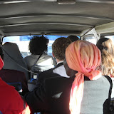 View from the back of a combi