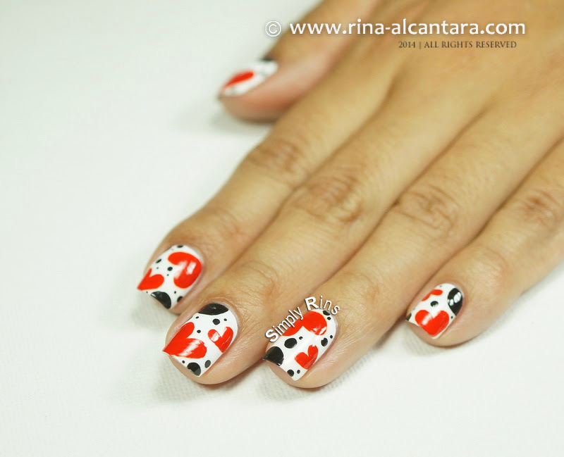 Valentine's Nail Art by Simply Rins