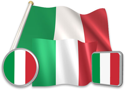 Italian flag animated gif collection