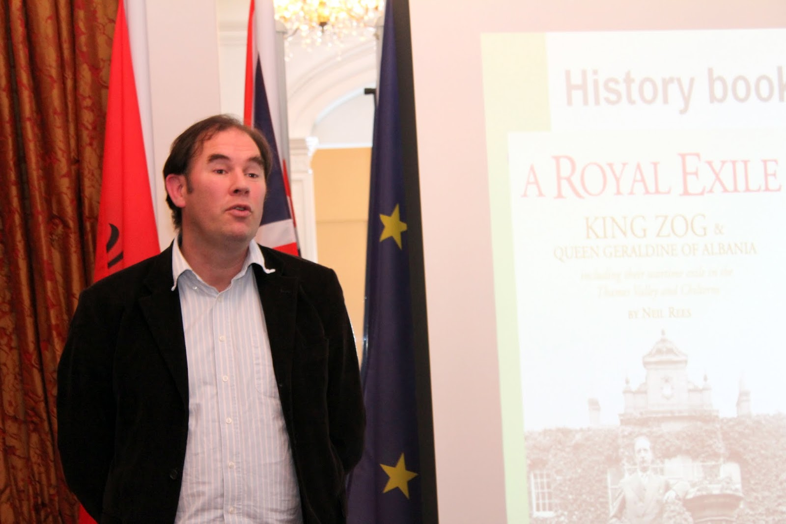 King Zog in Exile illustrated talk  by Neil Rees