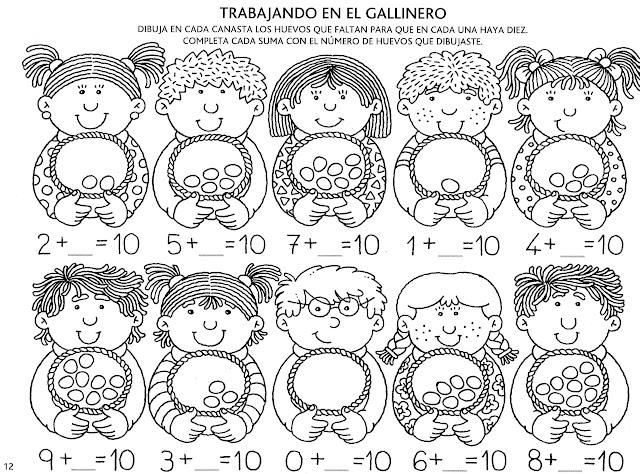 NUMEROS DEL 11 AL 30 FICHAS PARA PINTAR