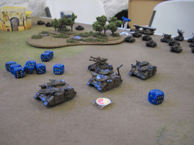 Scarik's Stormhammers move up.