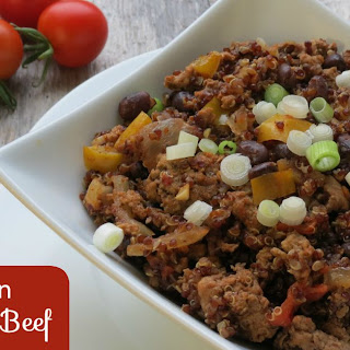 Mexican Quinoa and Beef (Slow Cooker)