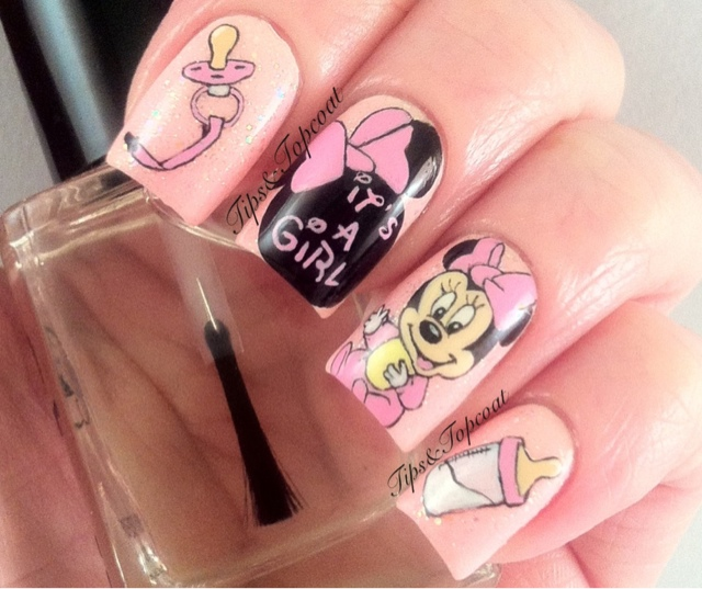 Comfortable Nail Art Designs Simple Small 1 Week Nail Polish Solid Nail Art For Round Nails Nail Art I Old What Is A Top Coat Nail Polish ColouredEssie Nail Polish Nz Tips And Topcoat: Baby Minnie Mouse Nail Art ;)