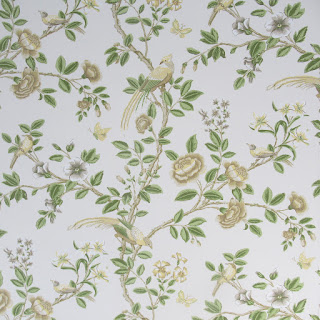 "Thibaut ""Newman"" Wallpaper in Beige & Green (7 Rolls)"