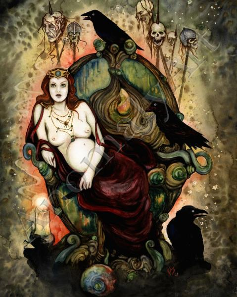 Raven And Goddess, Celtic And Druids