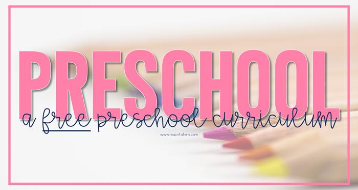 Preschool Curriculum Overview