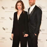 WWW.ENTSIMAGES.COM -  Jessica de Gouw and Oliver Jackson Cohen    arriving at       IWC Schaffhausen and BFI London Film Festival - private dinner at Battersea Evolution, London October 7th 2014Swiss watch brand and British Film Institute host party to celebrate their three year partnership.                                                Photo Mobis Photos/OIC 0203 174 1069