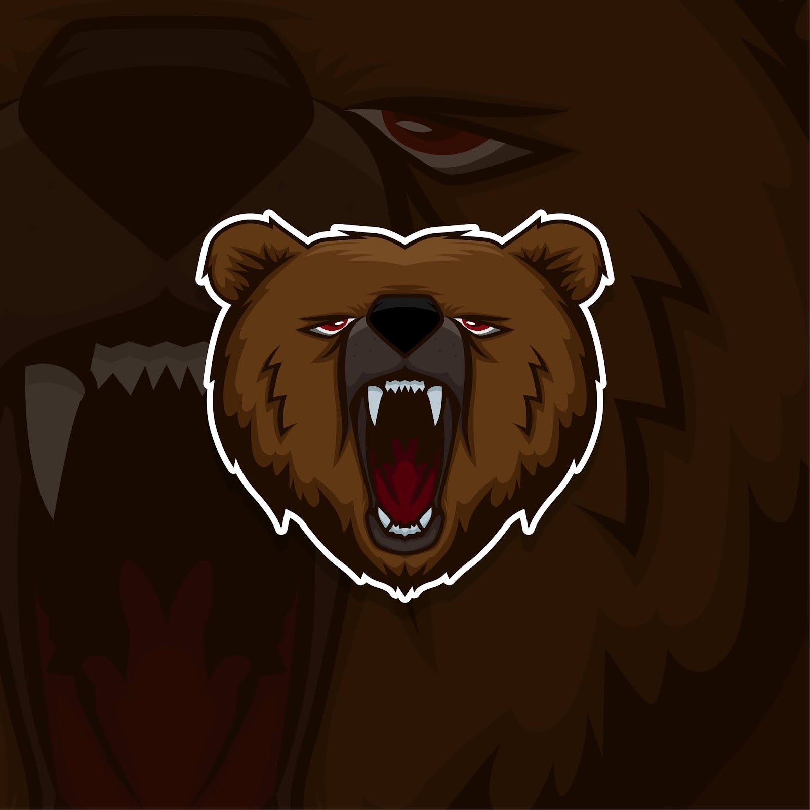 Esport Gamer Logo Bear Free Download Vector CDR, AI, EPS and PNG Formats