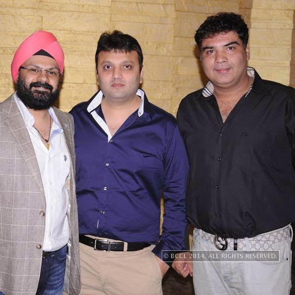 Anmol Anand, Ashish Doshi and Anuj Sahni during Round Table's AGM, in Nagpur.