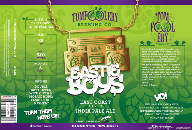 Tomfoolery Eastie Boys Cans Coming 2/24