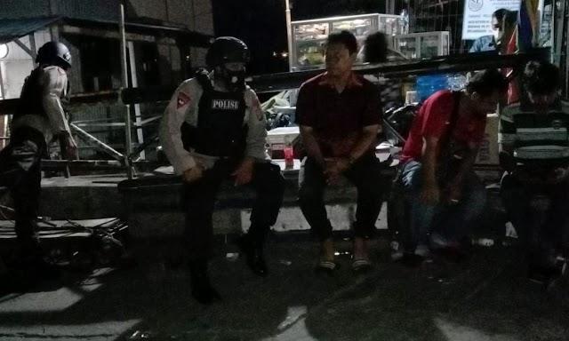 Brimob Batalyon A Pelopor Lakukan Patroli Malam, Imbau Warga Balikpapan Selalu Jaga Prokes