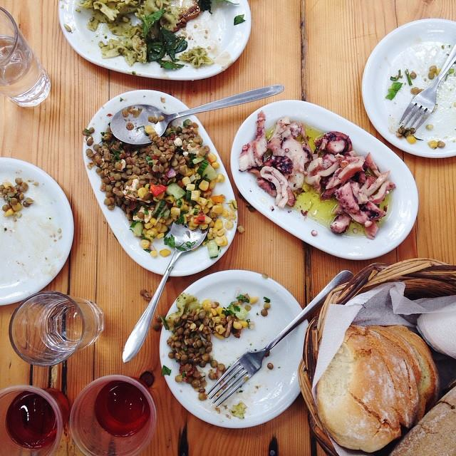 Kikis Restaurant Agios Sostis Beach // Best Restaurants in Mykonos.