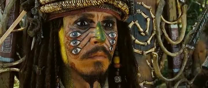 Screen Shot Of Hollywood Movie Pirates of the Caribbean 2: Dead Man's.Chest (2006) In Hindi English Full Movie Free Download And Watch Online at Alldownloads4u.Com