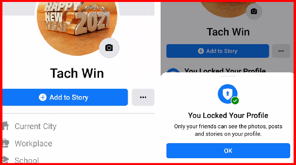 How to Lock Facebook Profile | Using Mobile Step by Step