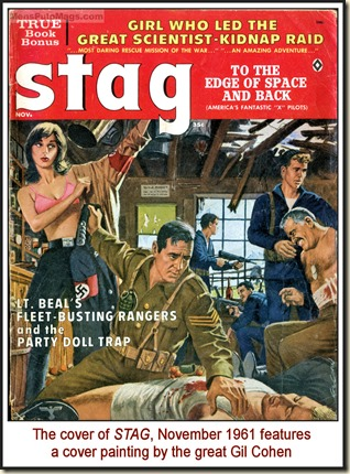 STAG, Nov 1961, cover by Gil Cohen
