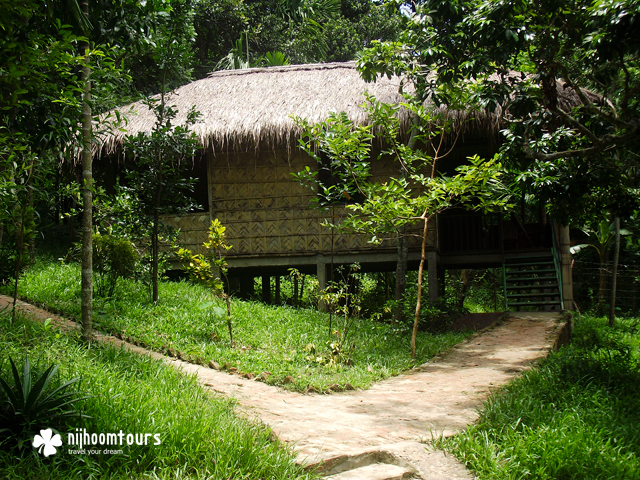 A cottage at the Eco resort at Srimangal