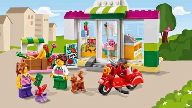 Khung cảnh sinh động của bộ Lego Juniors 10684 Vali siêu thị Supermarket Suitcase