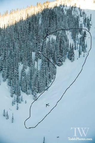 Avalanche Kootenay Range, secteur Mt Proctor, Cold Feet Bowl - Photo 1