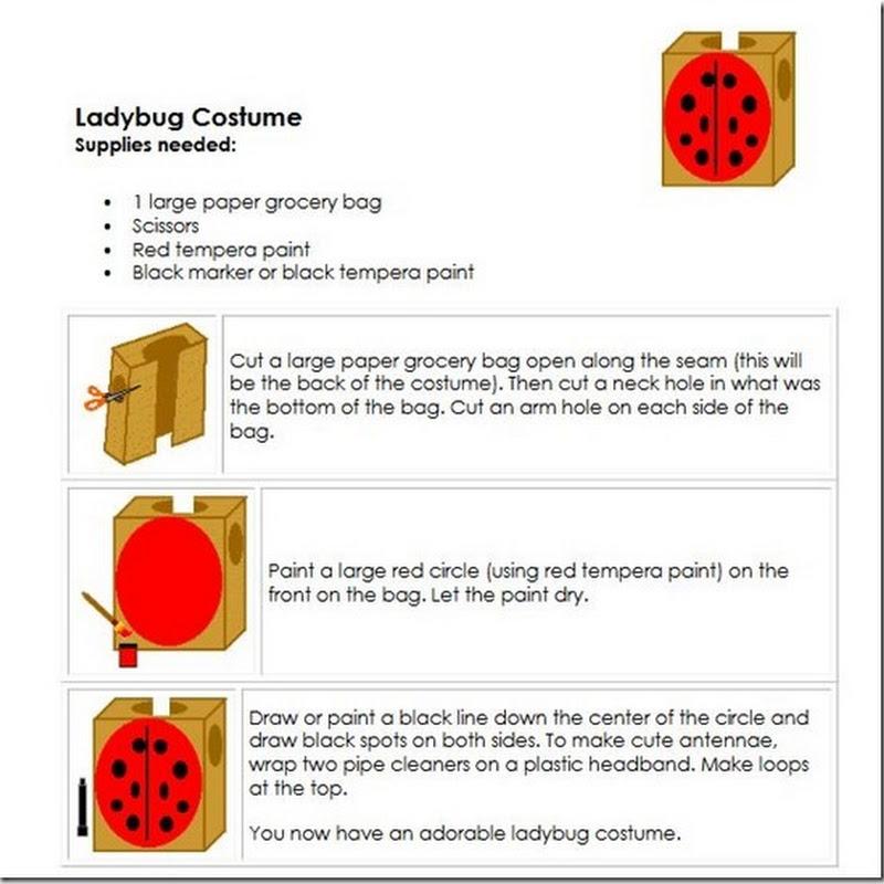 Hacer disfraz de mariquita con caja de cartón