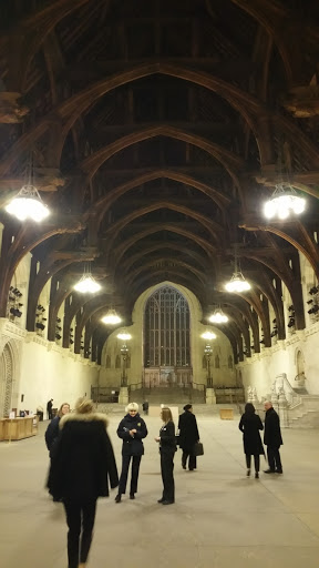 Entering Westminster Hall.