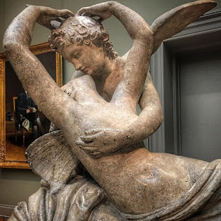 Statue of Psyche and Cupid at The Met in NYC