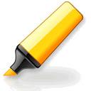 Yellow highlighter pen for web