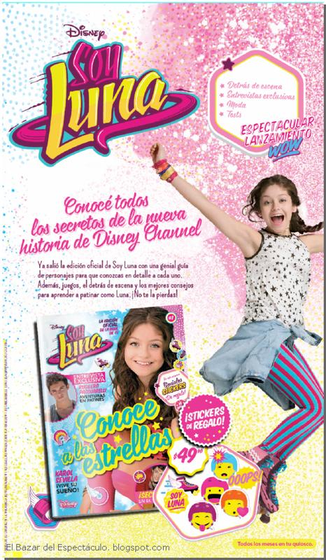 Revista oficial soy luna contenido precio lanzamiento for Diarios de espectaculos online